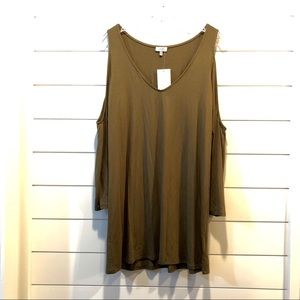 NWT🌟 Tobi - Cold Shoulder Olive Green Dress!